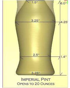 Imperial Pint Glass Mold (Nonik Pint)