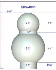Snowman Ornament Mold