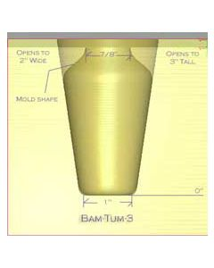 "Tumbler Glass Mold - 3""H"