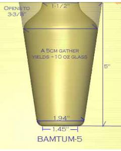 "Tumbler Glass Mold - 5""H"