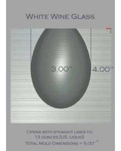 White Wine Glass Mold
