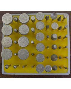 Diamond Burr Kit - 240 Grit (50 pcs)