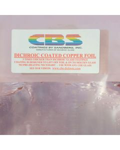 "Dichroic Coated Copper Foil Sheet (6"" x 12"")"