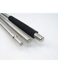 """Straight Punty - 7/8"""" with Hard Grip - Stainless Steel"""